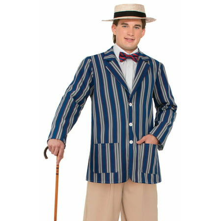 Mens Roaring 20's Boater Jacket Halloween Costume Accessory - 20's Costumes For Halloween