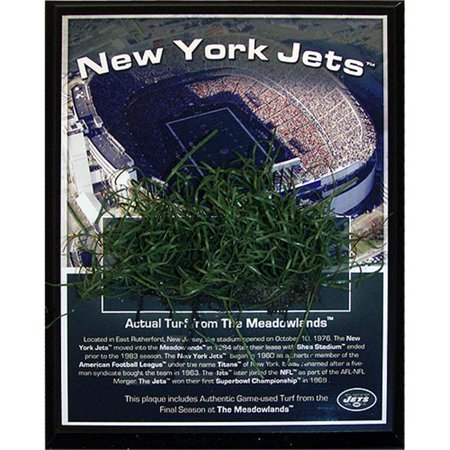 Steiner Sports JETSPLU000000 Jets Meadowlands Game-Used Turf Plaque
