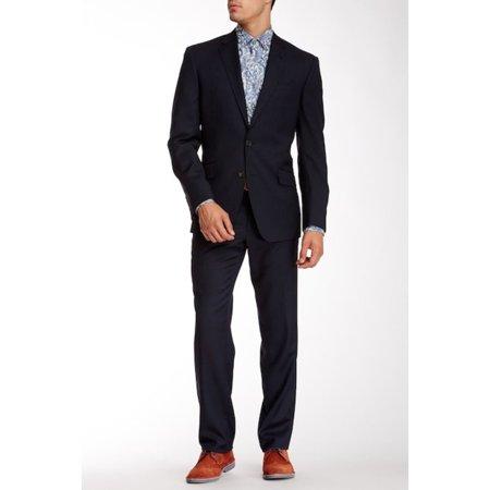 Ted Baker London Birdseye Notch Lapel Wool Suit Jacket Only, Blue,