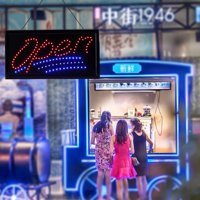 FAGINEY Outdoor LED Sign, Neon Sign Open,1pc Large Bright LED Shop Sign Board Neon Light Window Door Hang Sign Open