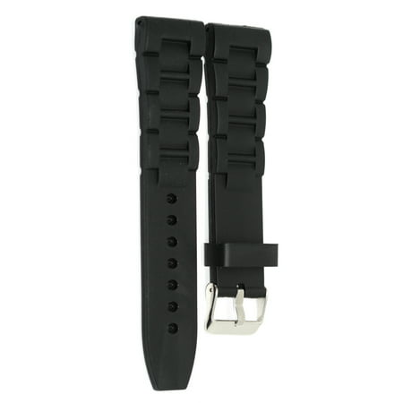 BLACK 22MM RUBBER WIDE LINK SPORT WATCH BAND STRAP FITS INVICTA 22mm Rubber Strap