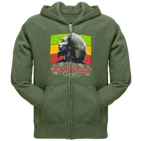- Bob Marley - Rebel Zip Hoodie