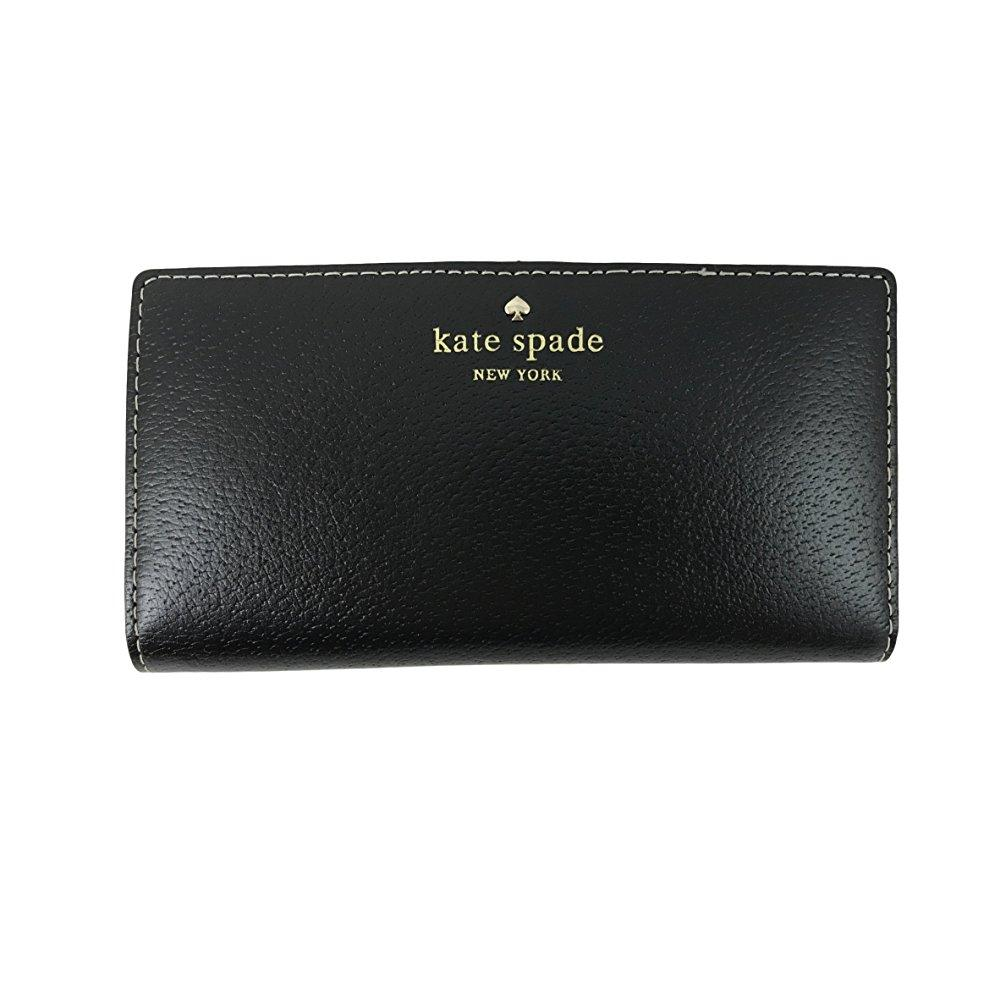 kate spade grand street stacy leather bifold wallet, black