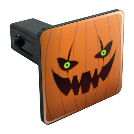Jack-o'-lantern Pumpkin Face Halloween Decoration Tow Trailer Hitch Cover Plug Insert 1 1/4 inch
