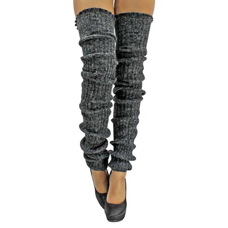Slouchy Thigh High Knit Dance Leg Warmers ()