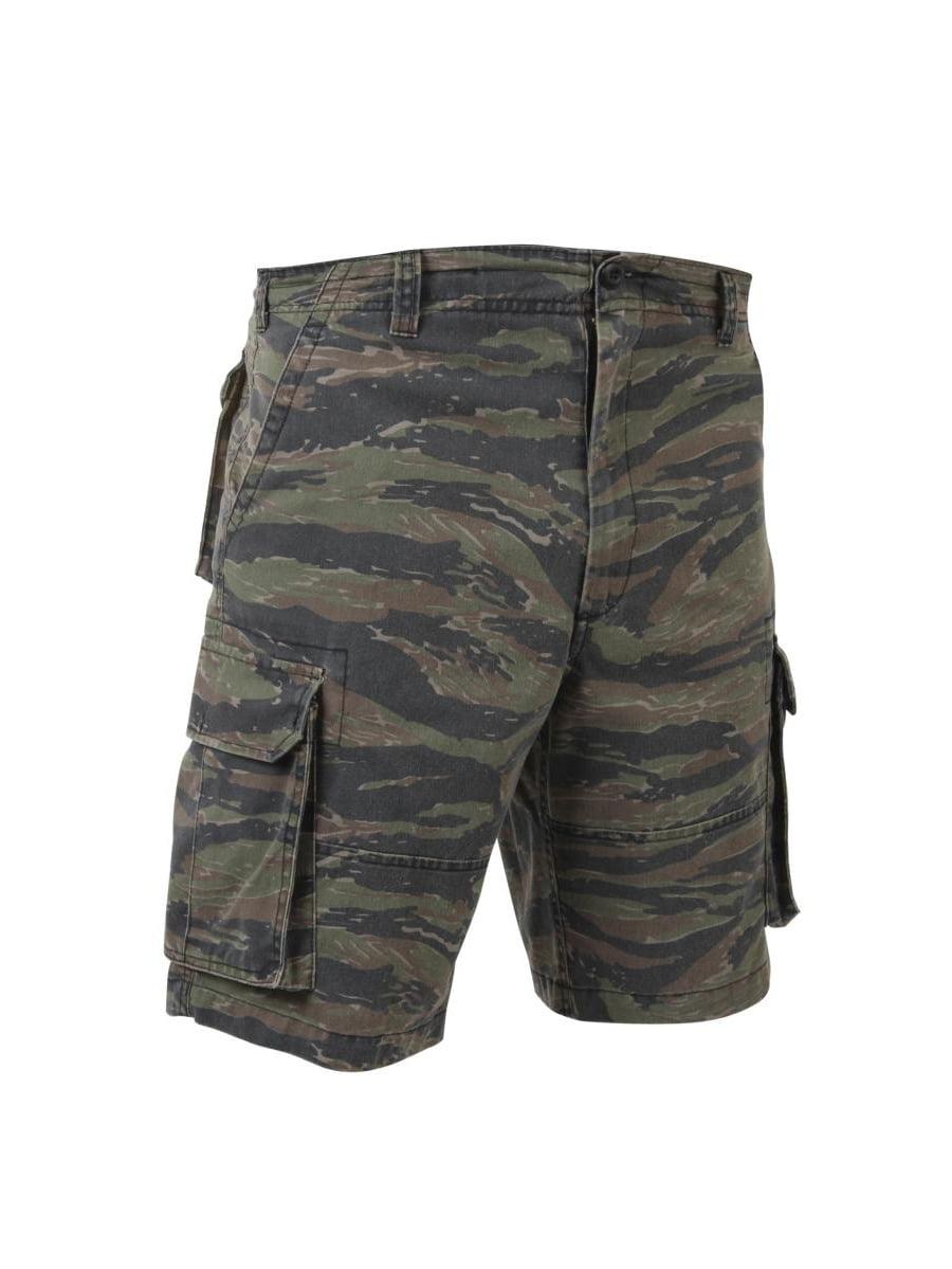 Vintage Tiger Stripe Paratrooper Cargo Shorts