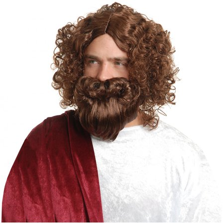 Jesus Wig and Beard Adult Costume Accessory (Jesus Wig And Beard)