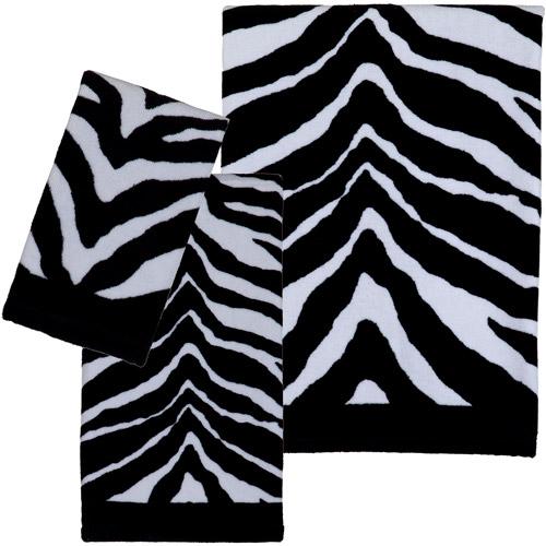 Creative Bath Zebra 3pc Towel Set