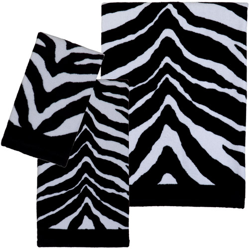 Creative Bath Zebra 3pc Towel Set