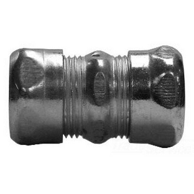 Crouse-Hinds 663 Zinc Plated Steel EMT Compression Coupling 1-1/4 Inch
