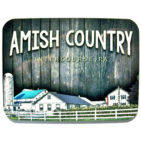 Counter Magnet (Amish Country Intercourse Pennsylvania with Farm Scene Fridge Magnet )