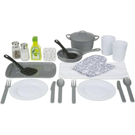 Melissa Doug 22 Piece Play Kitchen Accessories Set Utensils Pot And Lid Pans Play Food