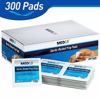 MEDca Excellent Alcohol Prep Pads, Sterile in Medium with 2-Ply - Pack of 300
