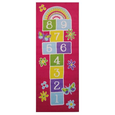 (Garden Hopscotch Area Rug (2 ft. 4 in. L x 1 ft. 6 in. W (1 lbs.)))