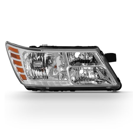 Fit 2009-2018 Dodge Journey Chrome Right Passenger Side Headlight Replacement