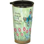 Blue Butterfly Traveler Mug