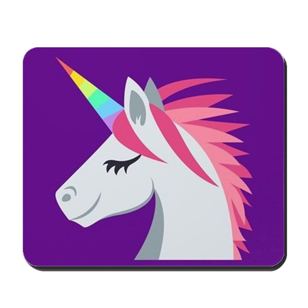 CafePress - Unicorn Emoji - Non-slip Rubber Mousepad, Gaming Mouse Pad