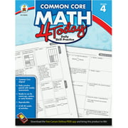 Carson-Dellosa, CDP104593, Common Core Math 4 Today Grade-4 Workbook, 1 Each