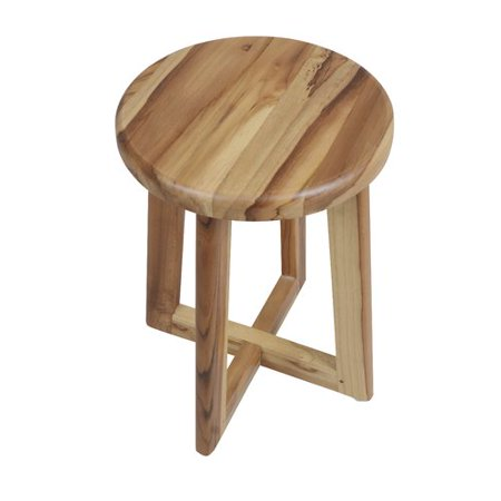 EcoDecors Shoji Solid Teak Bath Shower Stool - Walmart.com