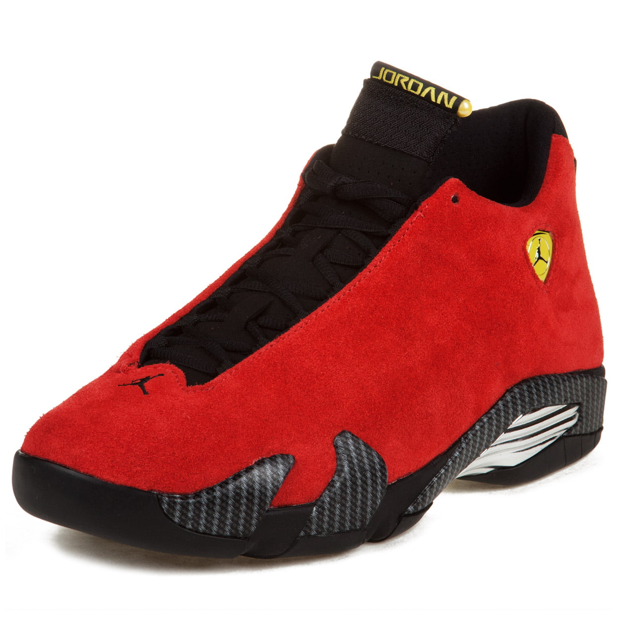 online store cdcaa 0b604 ... best nike mens air jordan 14 retro ferrari challenge red black yellow  654459 702d7 ca57e