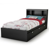 South Shore Spark 3-Drawer Storage Bed, Multiple Sizes, Multiple Colors, With or Without Bookcase Headboard