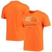 Denver Broncos New Era Combine Authentic Go For It T-Shirt - Orange