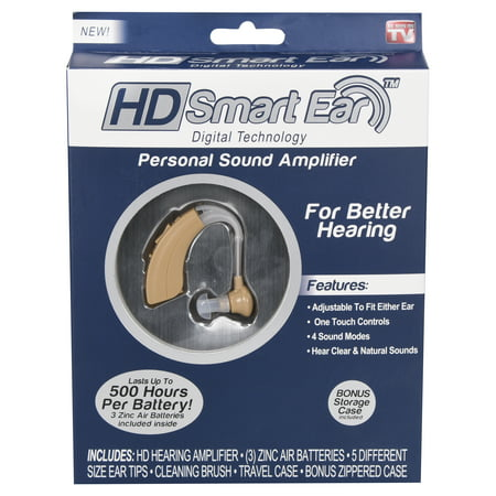 HD Smart Ear - Digital Hearing Amplifier to Aid Hearing - Lasts up 500 hours per