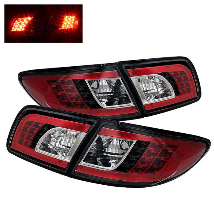 Spyder Mazda 6 03 08 4 5dr Not Fit Wagon Led Tail Lights Black Walmart Com Walmart Com