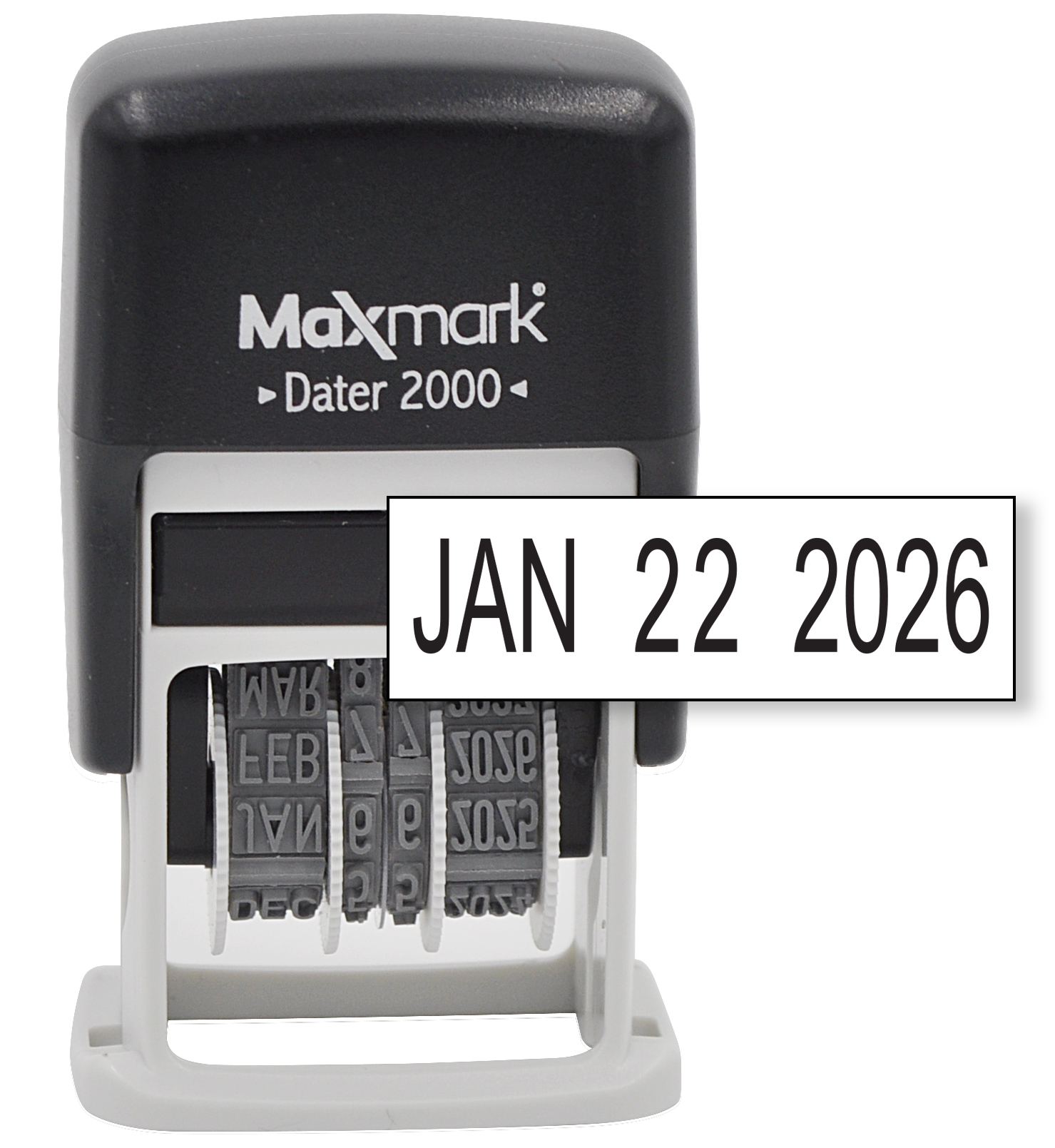 MaxMark Dater 2000, Self Inking Date Stamp with Black Ink