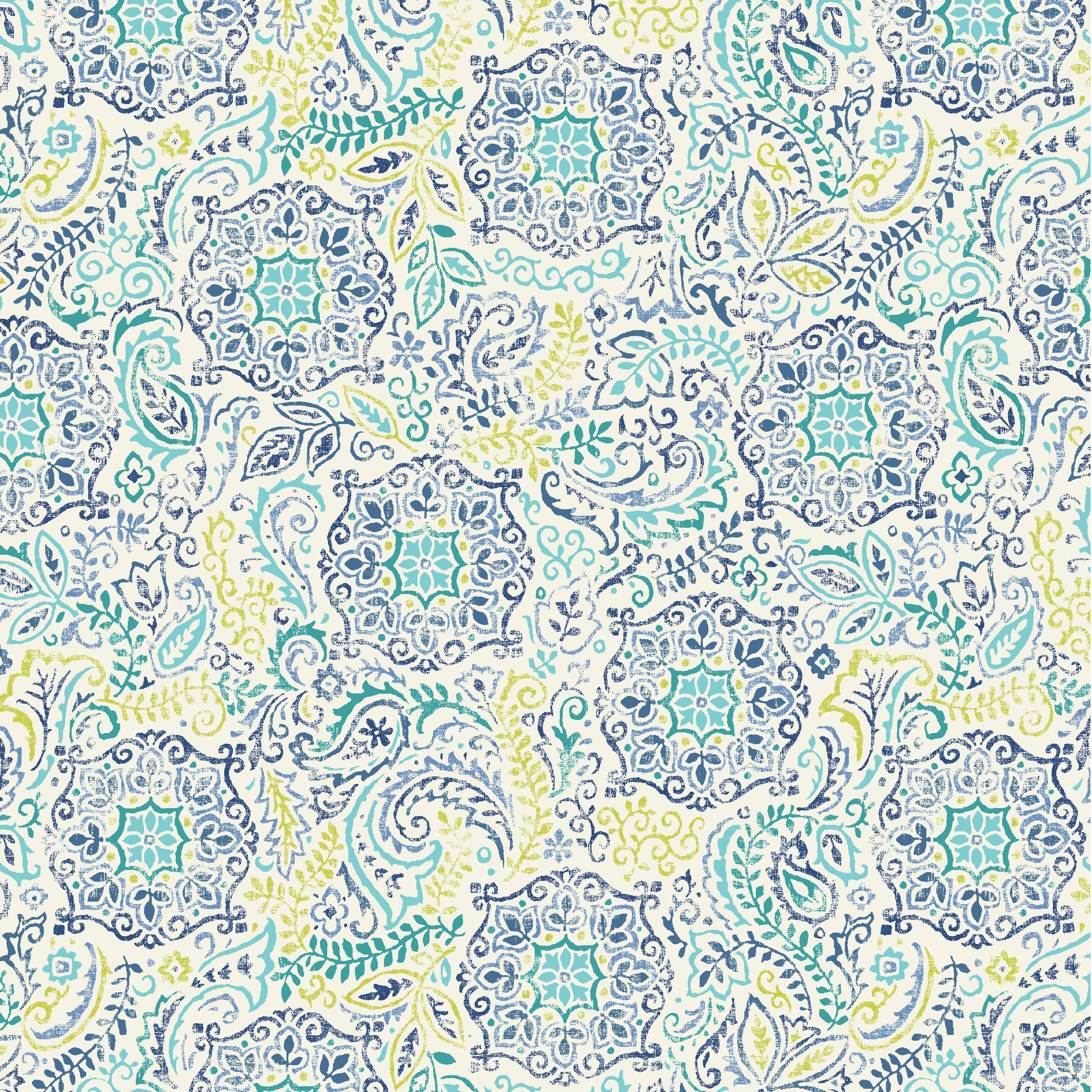 Waverly Inspirations POP FLOWER AZURE 100% Cotton Duck Fabric 45'' Wide, 180 Gsm, Quilt Crafts Cut By The Yard