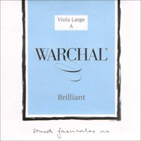 """Warchal Brilliant 16""""-17"""" Viola A String - Medium Gauge - Hydronalium Wound Synthetic Core"""