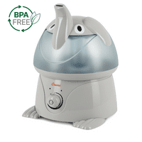 Crane Adorable Ultrasonic Cool Mist Humidifier, Elephant, 1 Gallon, EE-3186-1PK