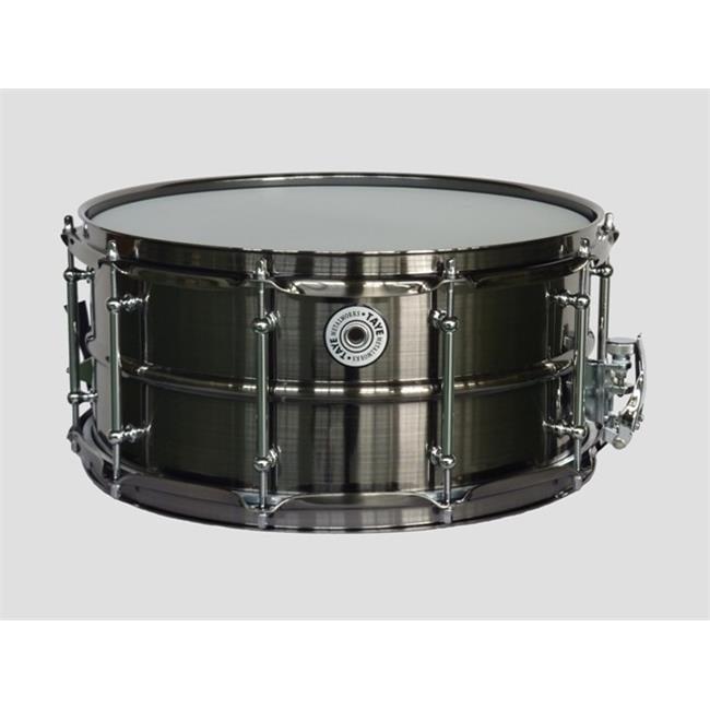 Taye BBS1465 14 x 6.5 in. MetalWorks Brushed Black Nickel Brass Drum