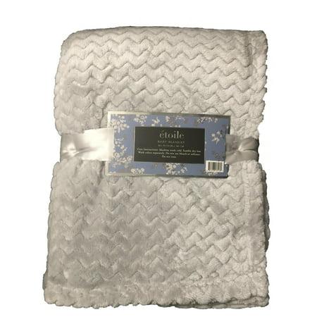Etoile Baby Blanket Jacquard Weave Velvet Throw Grey Walmart Inspiration Etoile Throw Blanket