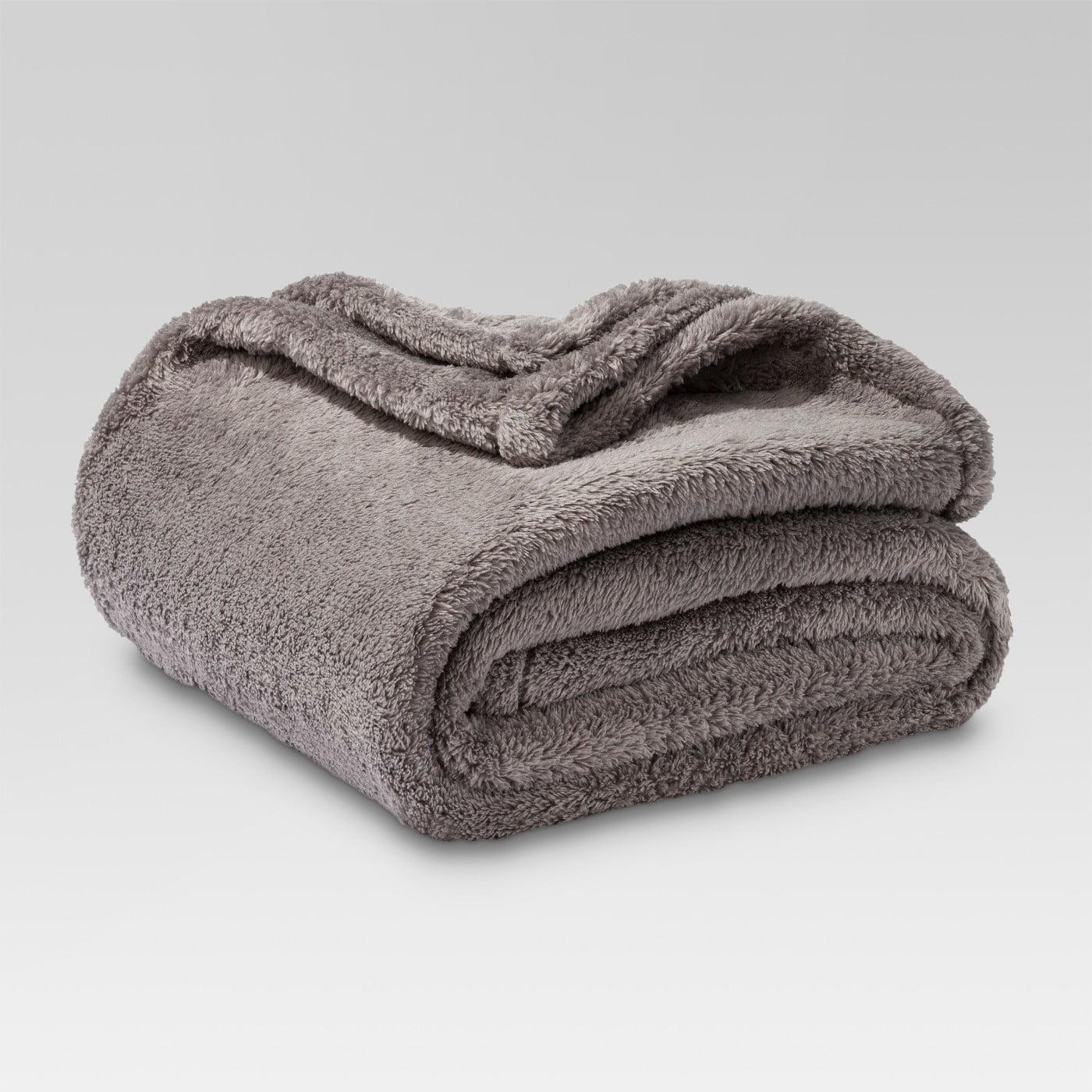 Threshold Fuzzy Blanket Throw Gray 70 X 50 New Walmart Com Walmart Com