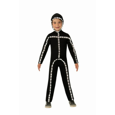 Light Up Stickman Halloween Costume (Kids Light-Up Stick Man)