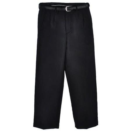 - Vittorino Big Boys' Husky Pleated Belted Dress Pants (Husky Sizes)