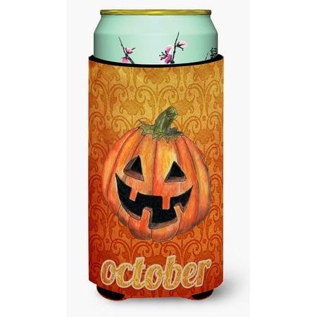 October Pumpkin Halloween Ultra Beverage Insulators for slim cans SB3020MUK - Octobre Halloween