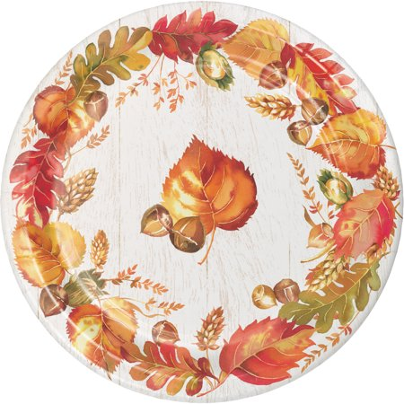 Fall Themed Paper Plates (Fall Give Thanks Paper Plates, 24)