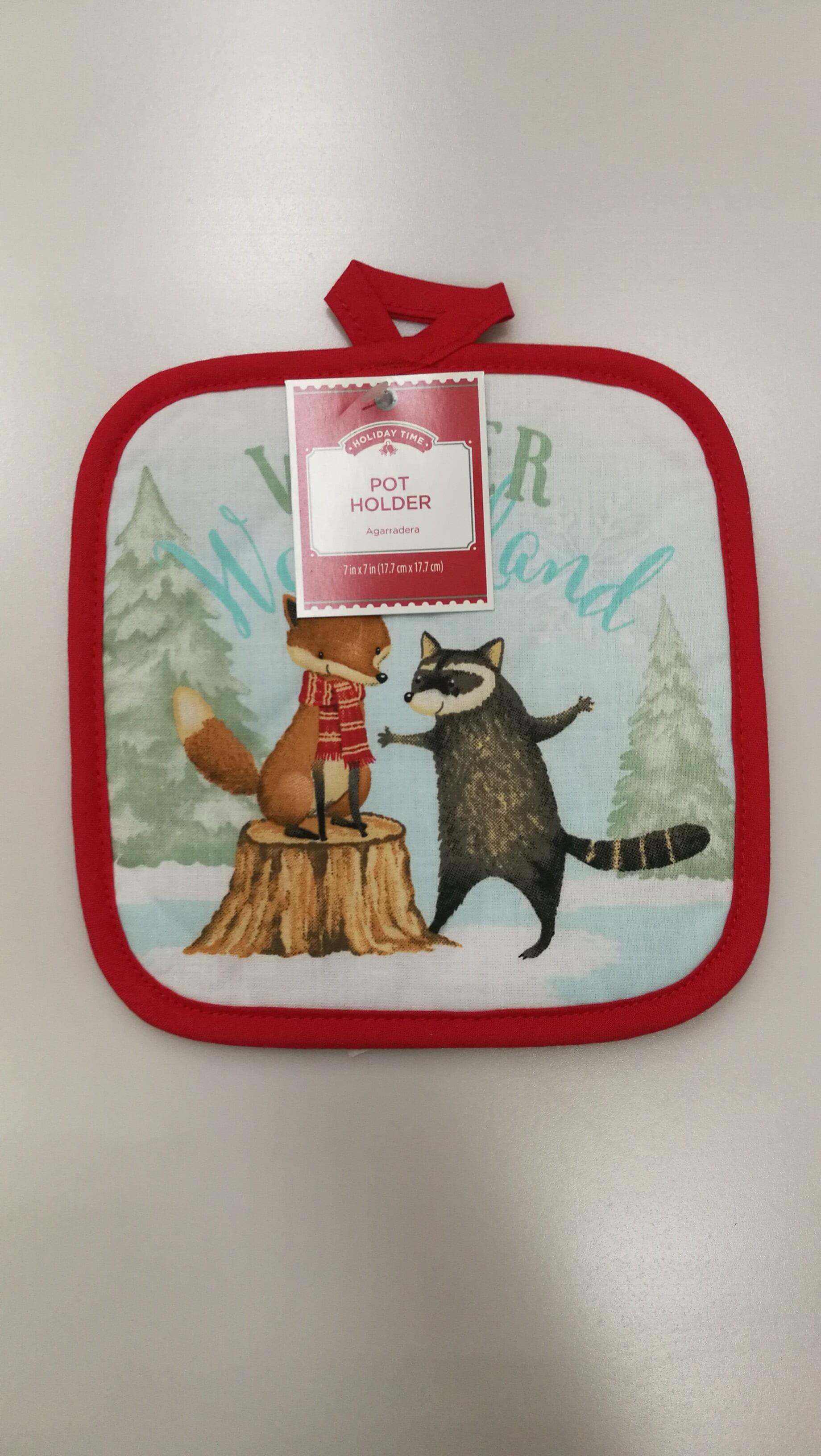 Holiday Critters Pot Holder /& Microwave Mitt Set