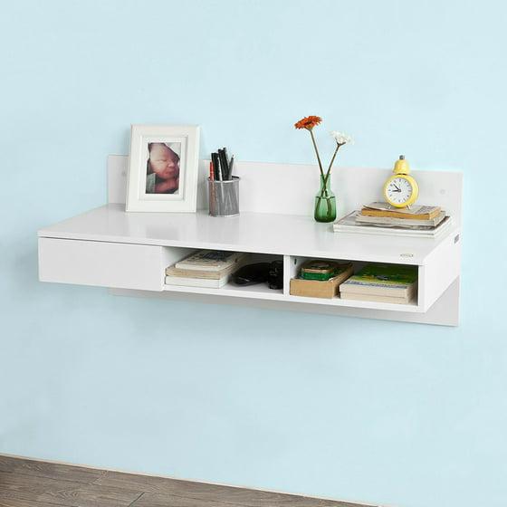 wall mounted office desk. Haotian FWT30-W, Wall-mounted Computer Table Desk, Home Office Desk Workstation Wall Mounted W