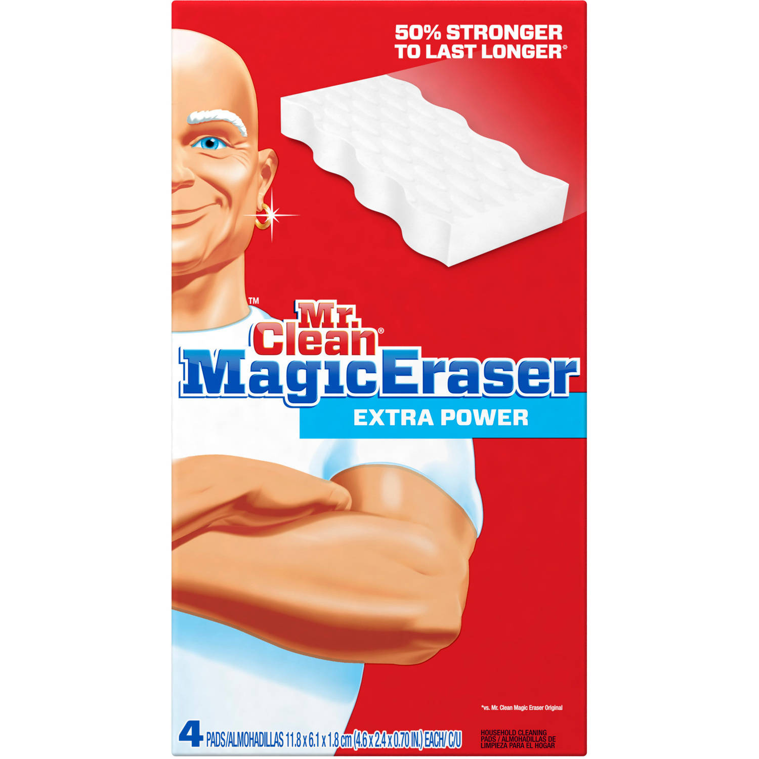 Mr. Clean Magic Eraser Extra Power Household Cleaning Pads, 4 count