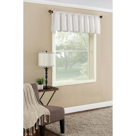 Mainstays Textured Solid Curtain Valance ()
