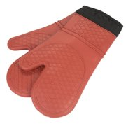 Sweet Home Collection Heat Resistant Quilted Lining Kitchen Oven Mitt Gloves (Set of 2)