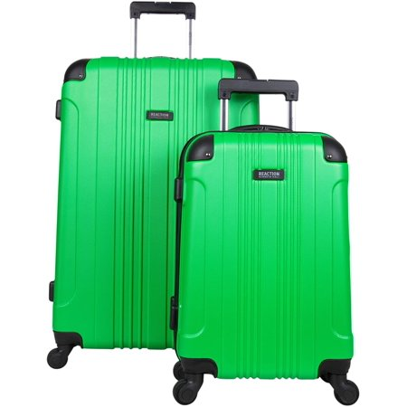 """Kenneth Cole Reaction Out Of Bounds 2-Piece Hardside 4-wheel Spinner Luggage Set: 20"""" Carry-On & 28"""" Checked Suitcase, Kelly Green"""