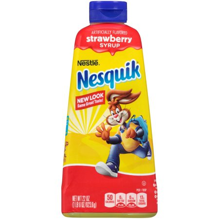 (6 Pack) NESQUIK Strawberry Syrup 22 oz. Bottle