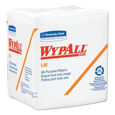 WypAll L40 Towels, 1/4 Fold, White, 12 1/2 x 12, 56/Box, 18 Packs/Carton -KCC05701