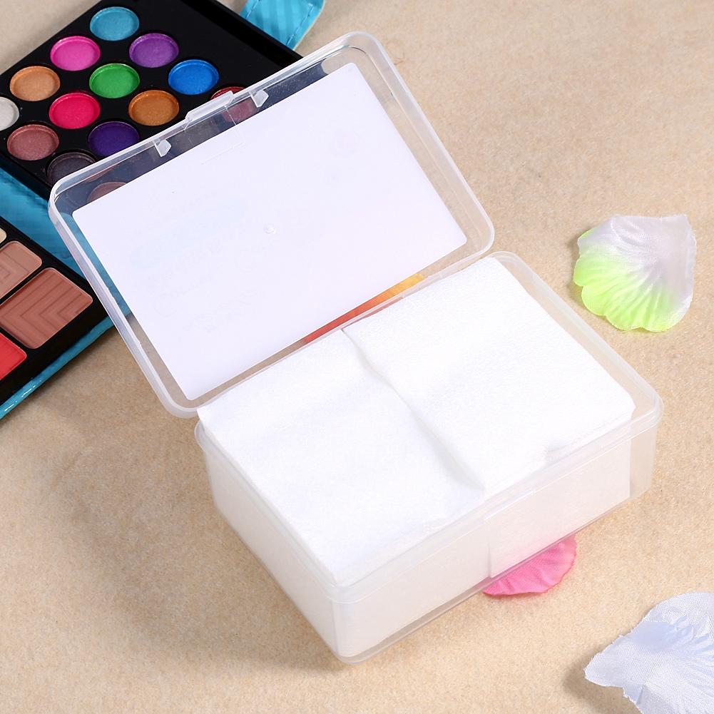Aramox 150PCS Cosmetic Cotton Pads Facial Makeup Wipes Nail Art  Polish Gel Tips Remover & Box, Cotton Makeup