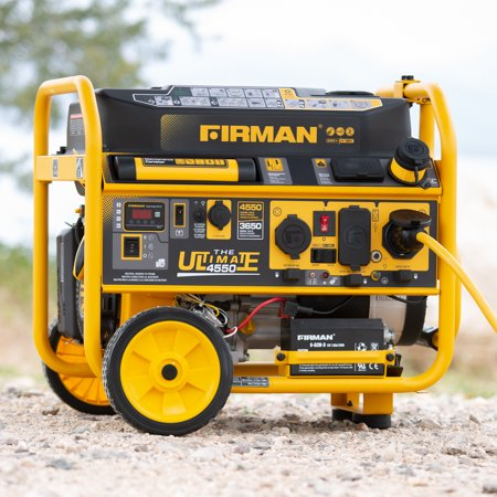 Firman P03615 4550/3650 Watt 120/240V Remote Start Gas Portable Generator cETL / CARB Certified, Black (Renewed) ()