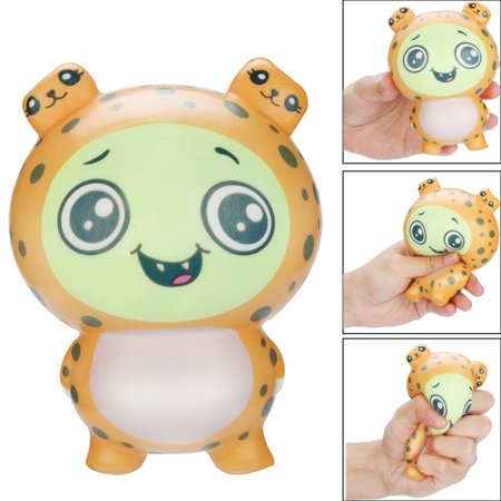 Cream Leopard (BEAD BEE Squishies Toy Kawaii Leopard Slow Rising Cream Scented Stress Relief Toys Gifts)